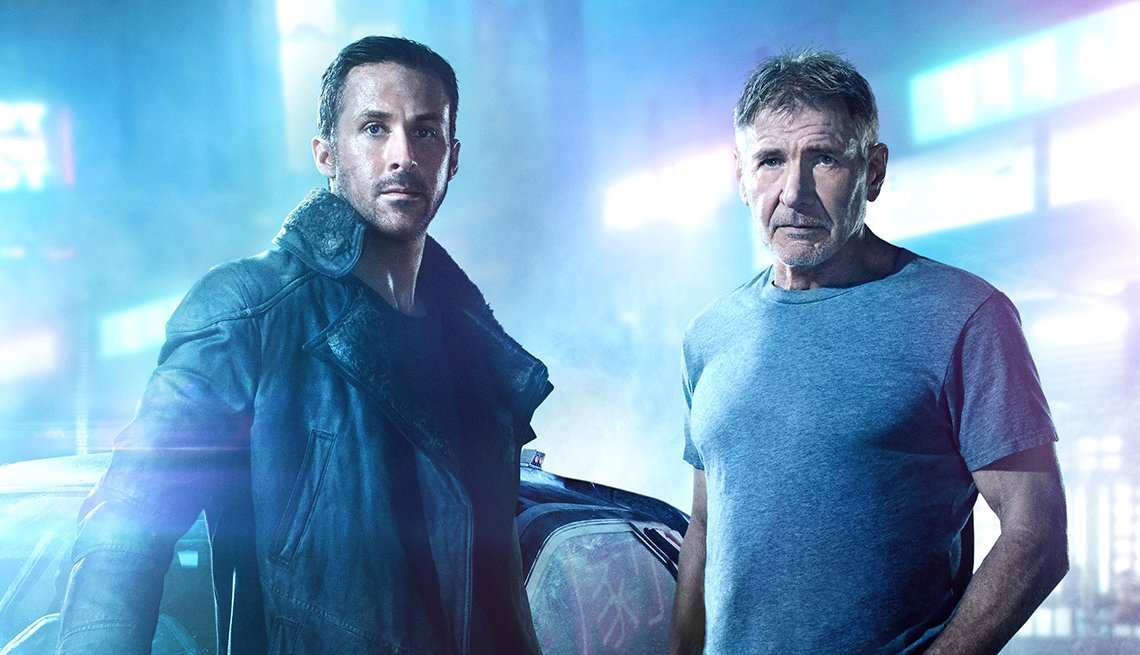 Ryan Gosling and Harrison Ford in 'Blade Runner 2049'