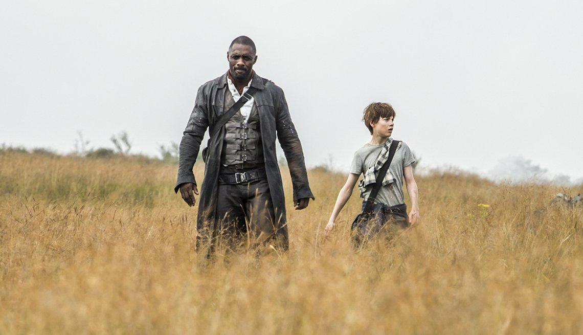 Idris Elba and Tom Taylor in 'The Dark Tower'