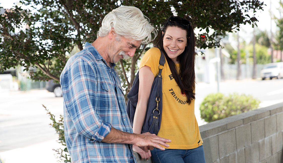 Sam Elliott and Laura Prepon in 'The Hero'