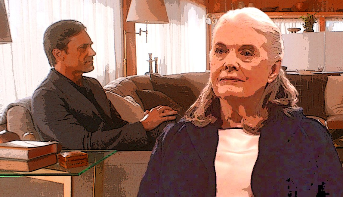 Jon Hamm and Lois Smith in 'Marjorie Prime'