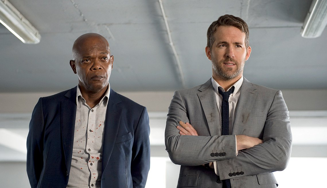 Samuel L. Jackson and Ryan Reynolds in 'The Hitman's Bodyguard'