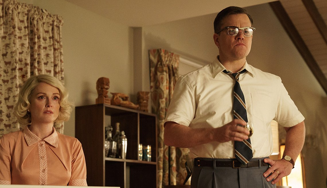 Julianne Moore and Matt Damon in 'Suburbicon'