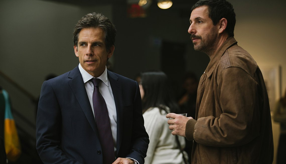 Ben Stiller and Adam Sandler in 'The Meyerowitz Stories'