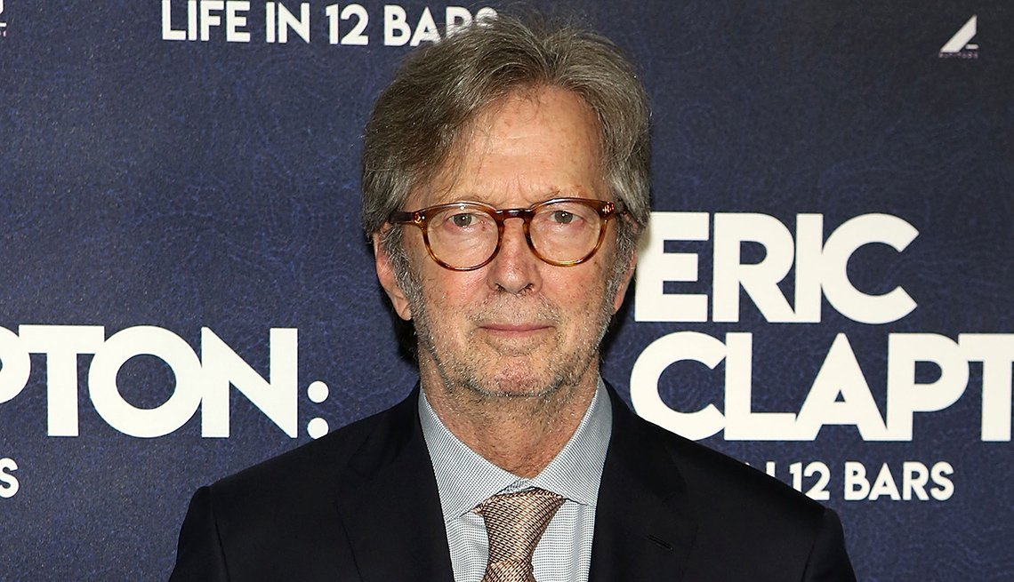 Eric Clapton at his documentary premiere in London