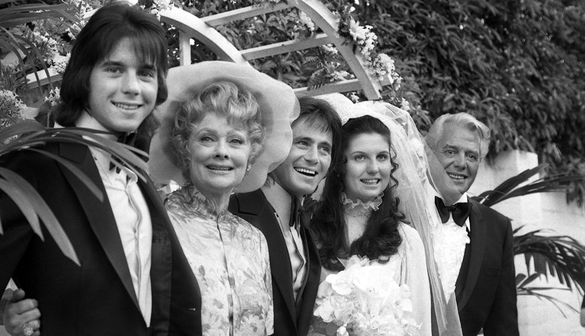 Performers Lucille Ball and Desi Arnaz At Their Daughter's Wedding