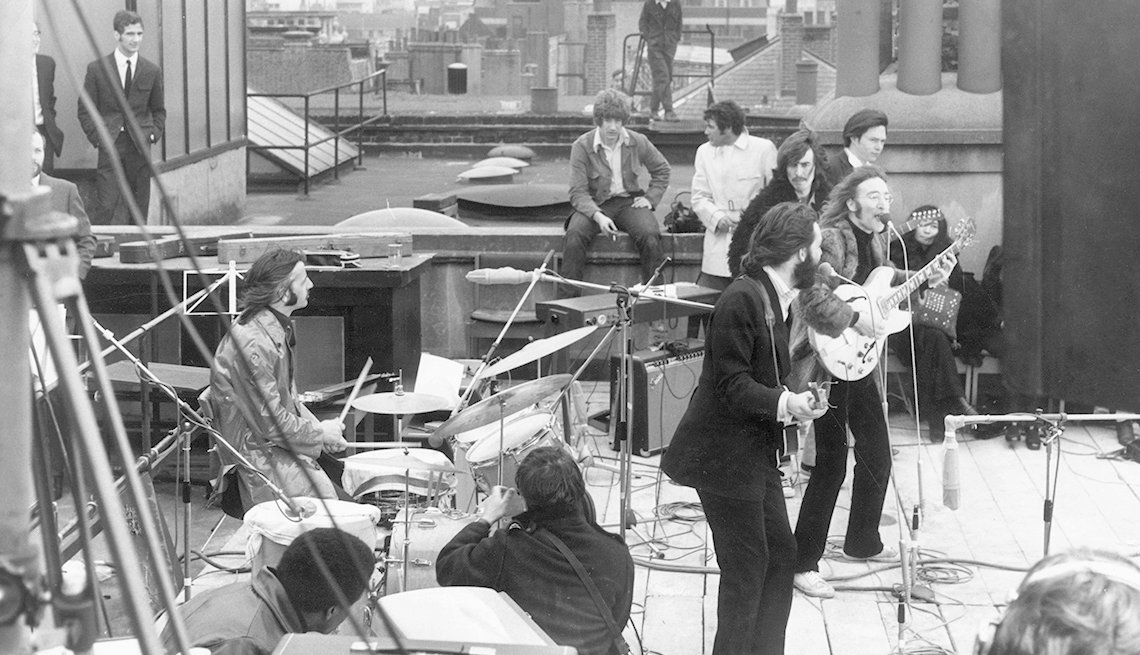 Final Beatles Concert, Rooftop, Musicians, The Beatles Slideshow