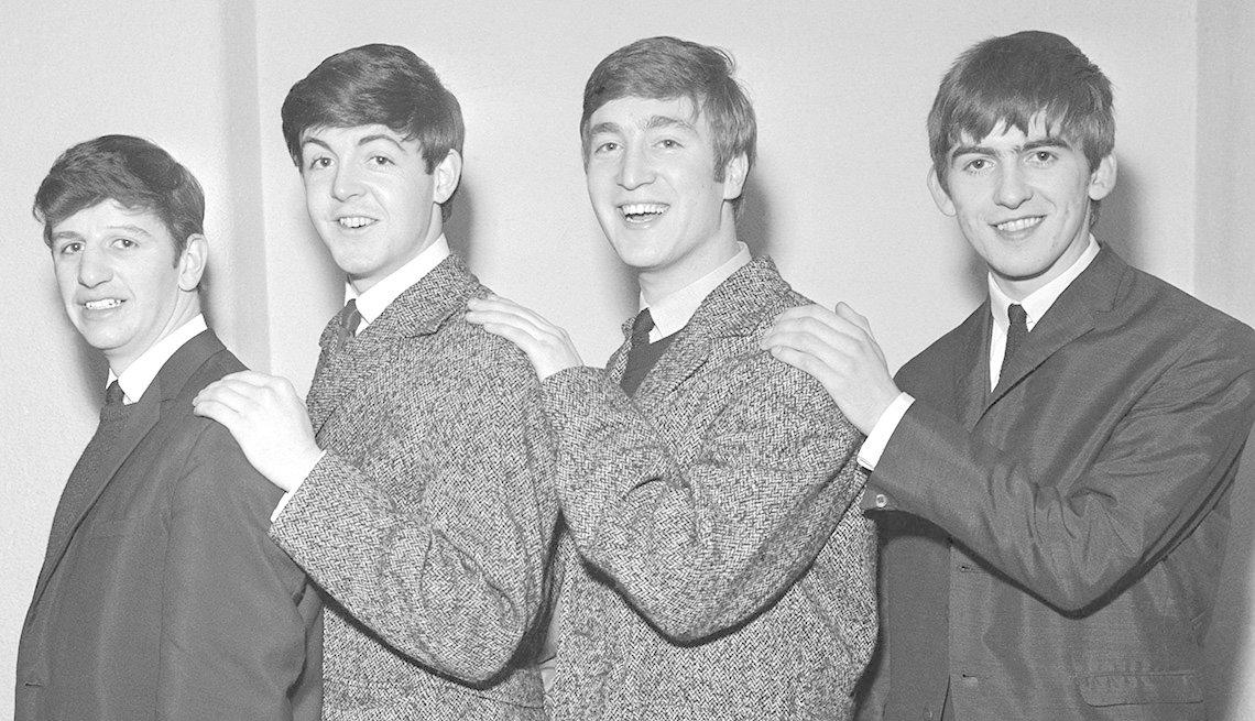 The Beatles, Portrait, The Fab Four, Musicians, Ringo Starr, Paul McCartney, John Lennon, Geroge Harrison, 1962,The Beatles Slideshow