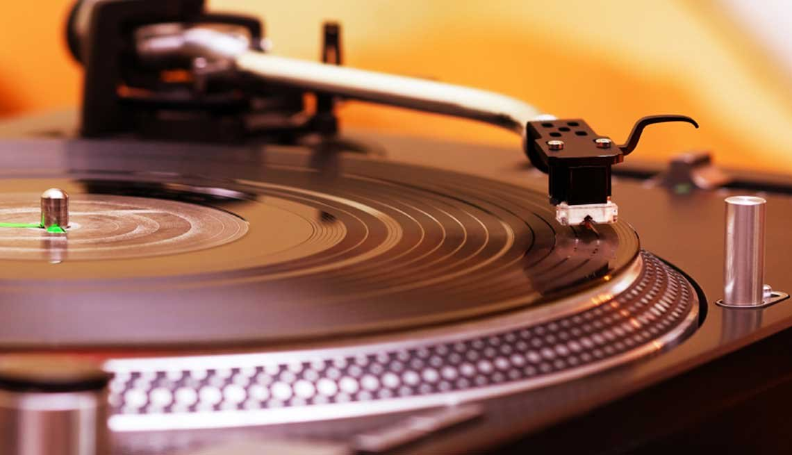 Turntable Playing Vinyl Record, Boomer's Top 10 Albums