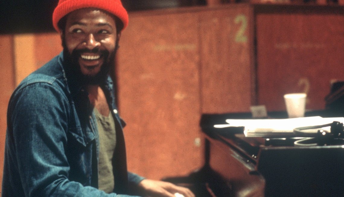 Marvin Gaye, Singer, Musician, Piano, Smiling, Portrait, Boomer Generation Soundtrack