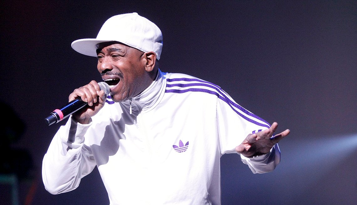Kurtis Blow, Concert, Performance, On Stage, Microphone, Rapper, Hip Hop Boomers