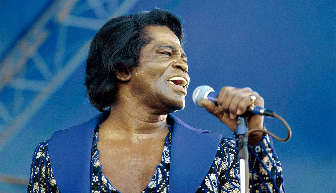 James Brown On Stage, Singing, Microphone, Stars Who Made James Brown A Star