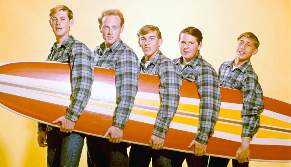The Beach Boys, Band, Musicians, Singers, Portrait, Surfboard, Boomers Guide To Surfer Music
