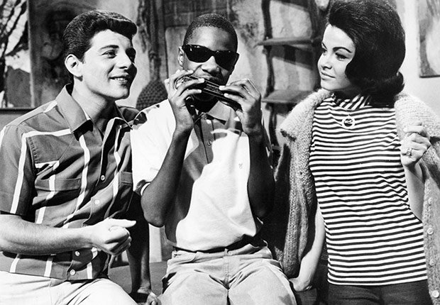 Stevie Wonder with Frankie Avalon and Annette Funicello. A Boomer's Guide to Surf Music.
