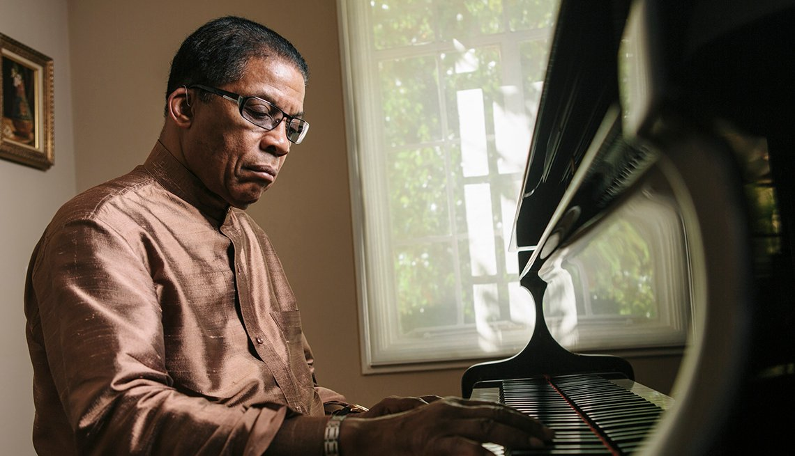 Jazz Musician, Herbie Hancock, Piano, Portrait, Interview