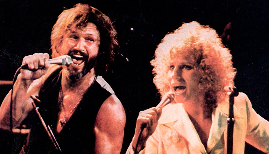 Kris Kristofferson and Barbra in 'A Star is Born'
