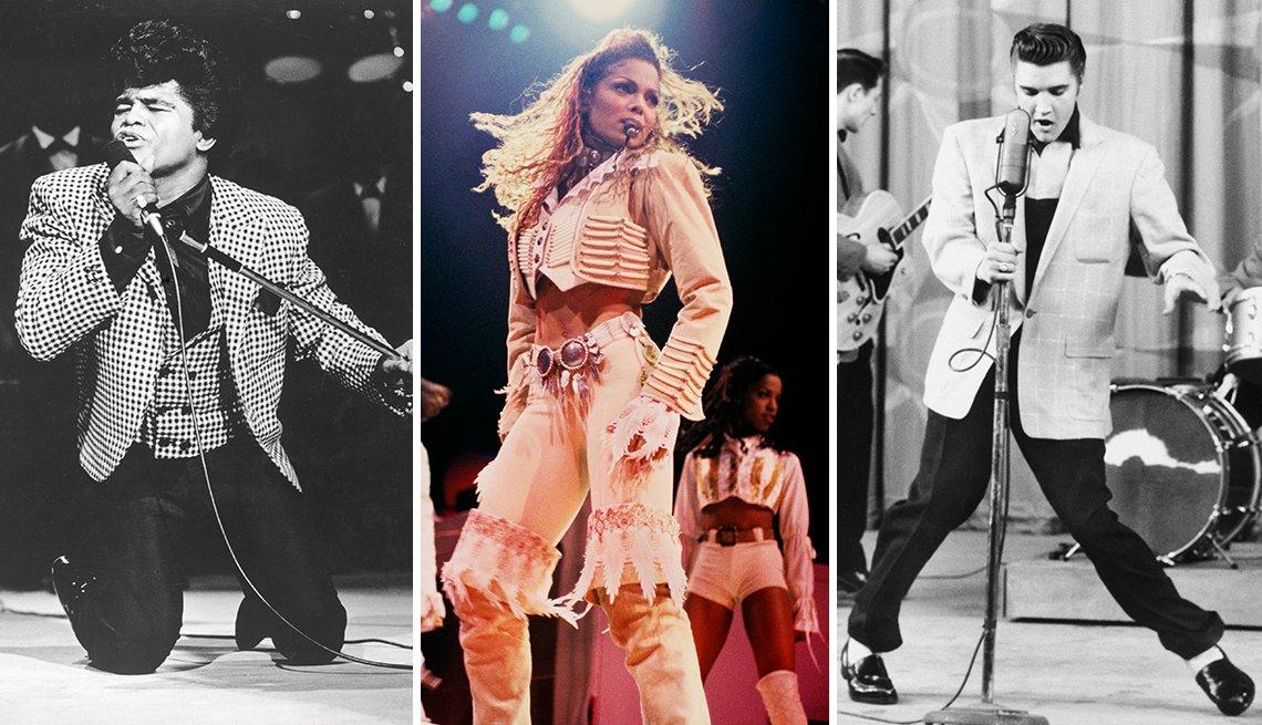 James Brown, Janet Jackson and Elvis Presley