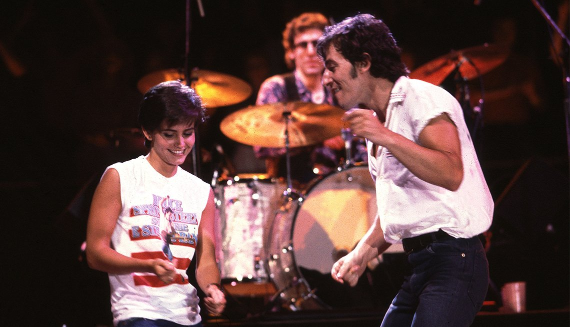 Courtney Cox and Bruce Springsteen