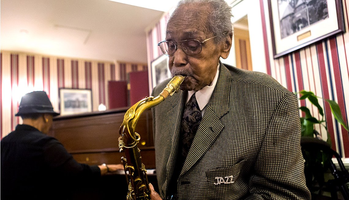Fred Staton, Saxophone Player, celebrates 102nd birthday