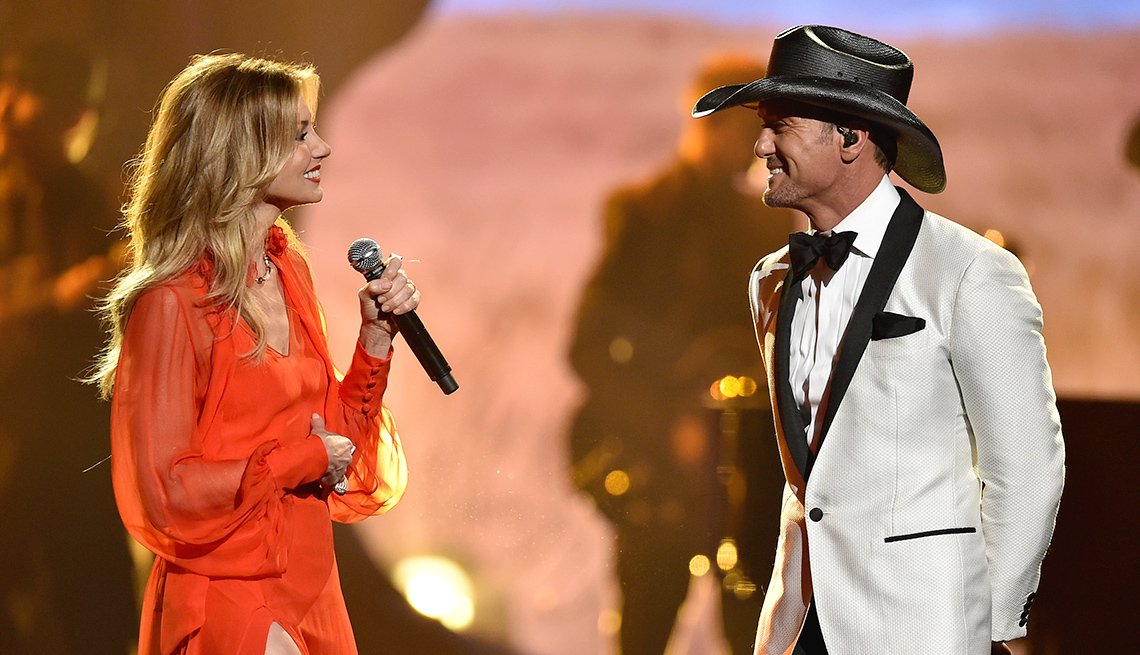 Faith Hill and Tim McGraw at the CMA Awards
