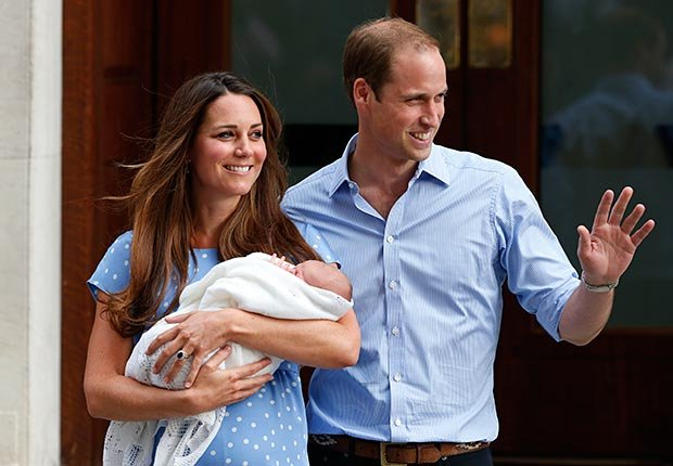 Prince William and Kate Middleton, Duchess of Cambridge, welcome their newborn son, the Prince of Cambridge.