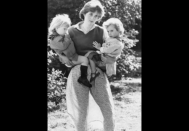 Lady Diana Spencer as a kindergarten aide in 1980 with two children. (Arthur Edwards/The Sun/Newscom)