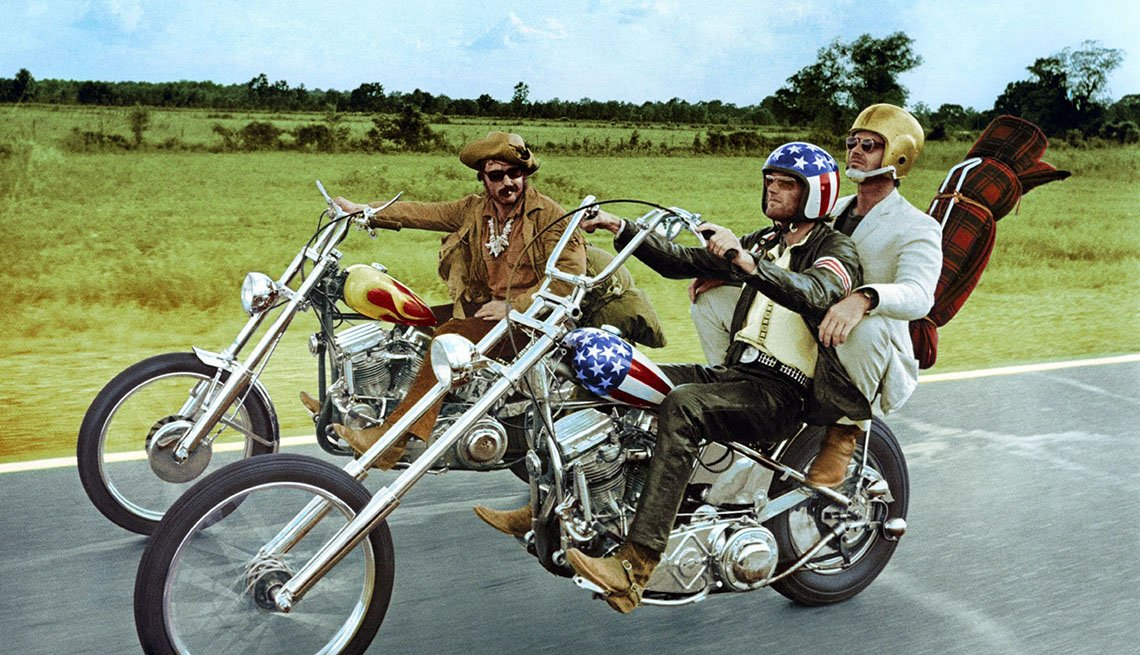 Movie Still From Easy Rider, AARP Entertainment, Essential Boomer Movies