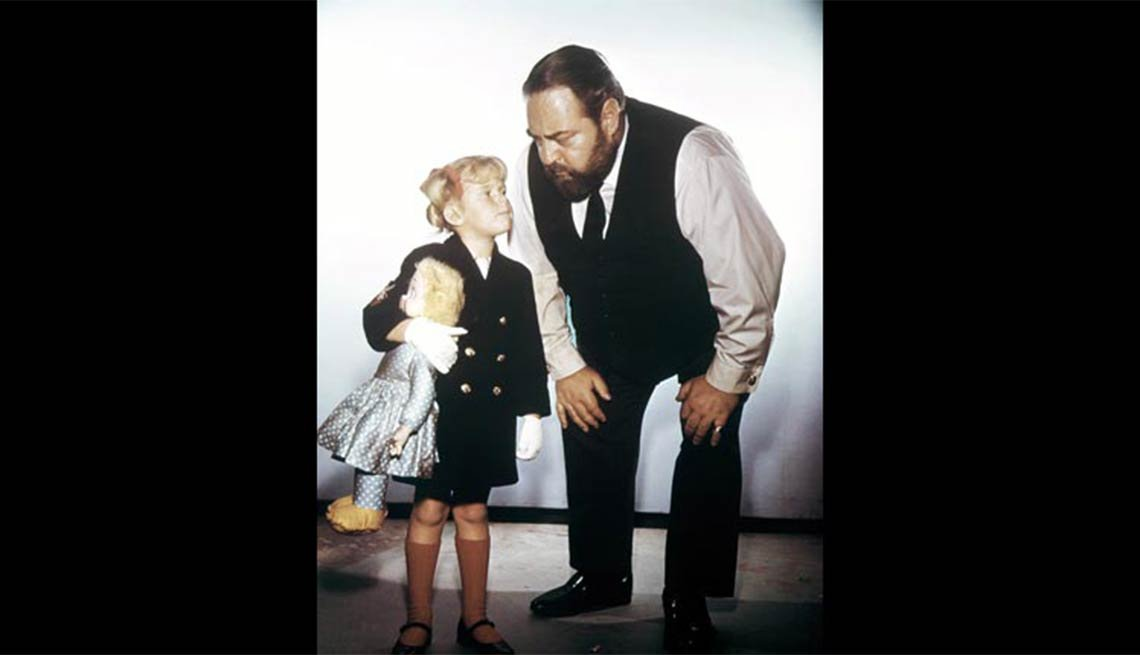 Child actress Anissa Jones with Sebastian Cabot in Family Affair, Child star