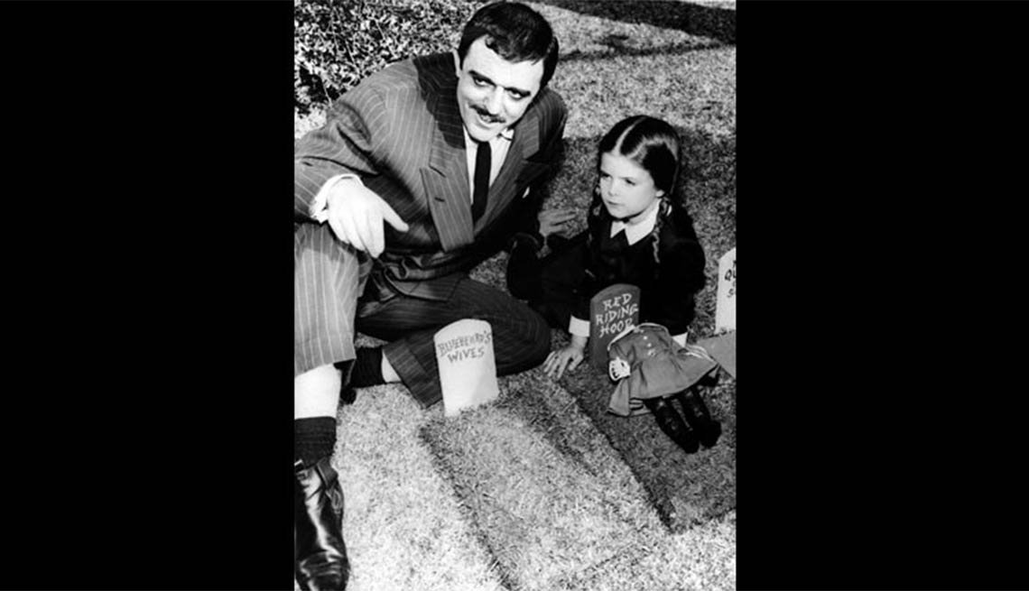 Child actress Lisa Loring and John Astin in The Addams Family, Child stars