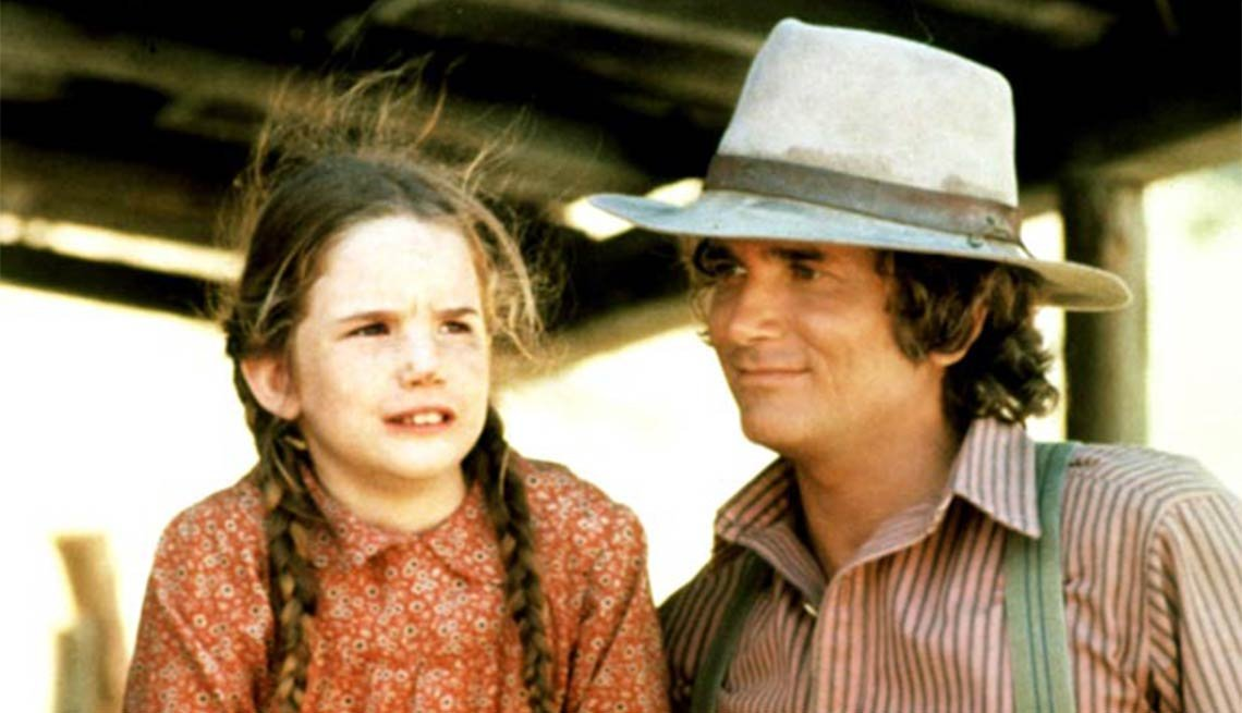 Child actress Melissa Gilbert with Michael Landon, Little House ,Child actress Melissa Gilbert with Michael Landon, Little House
