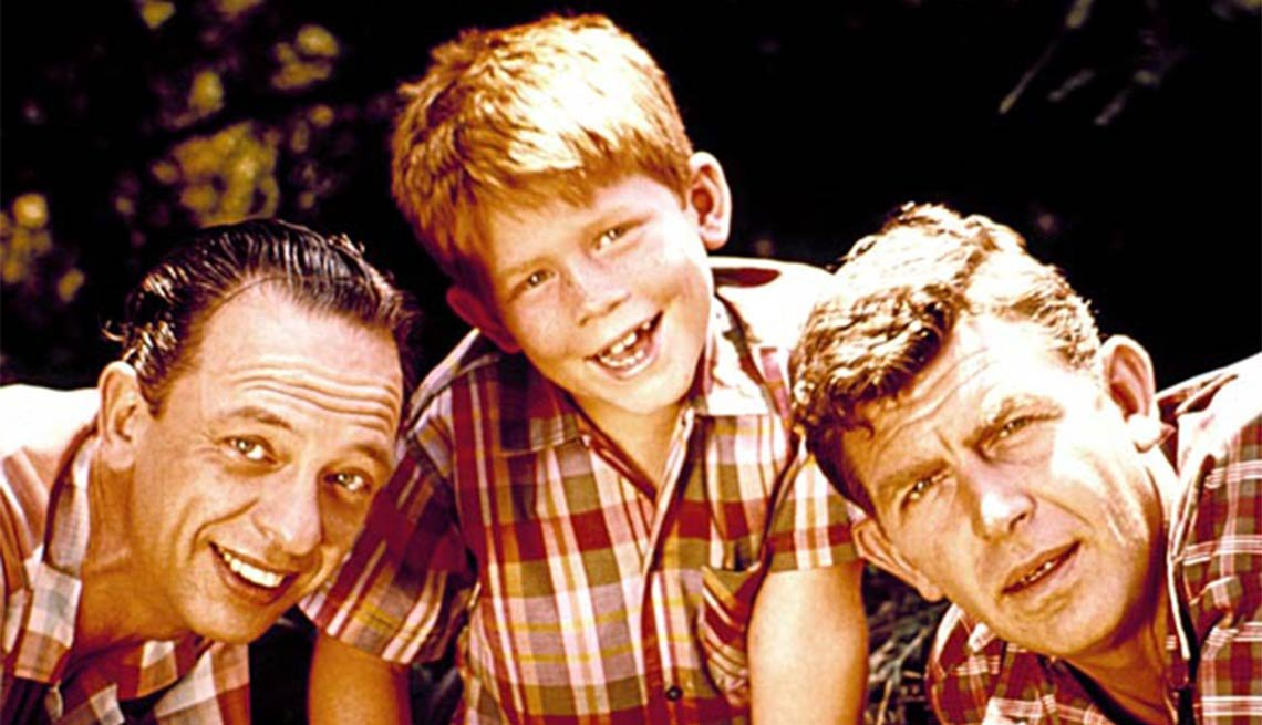 Child actor Ron Howard with Don Knotts and Andy Griffith in the ,Child actor Ron Howard with Don Knotts and Andy Griffith in the