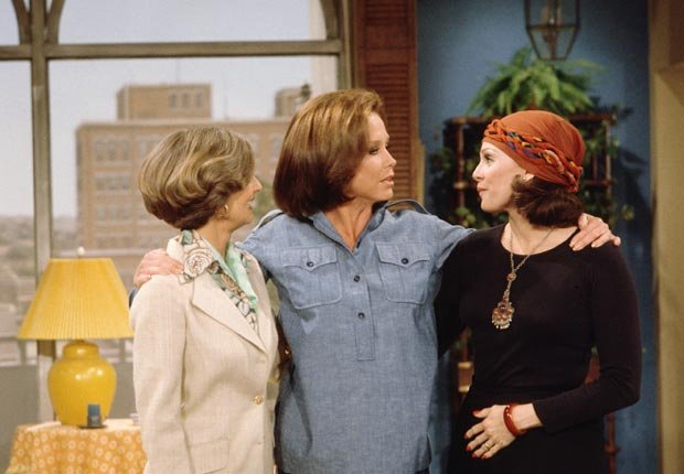 Valerie Harpe, Mary Tyler Moore (CBS via Getty Images)