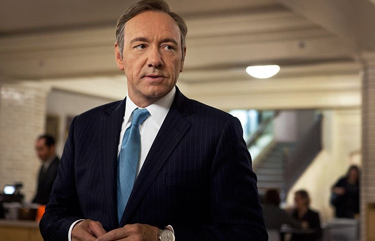 Kevin Spacey as U.S. Congressman Frank Underwood in the Netflix original series,