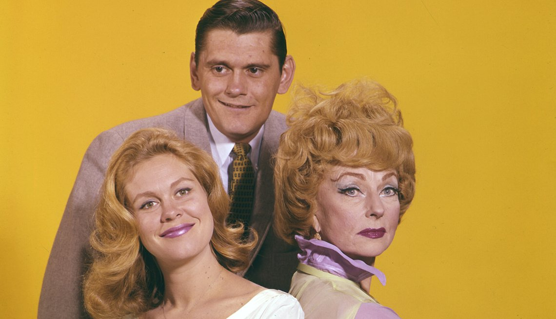 Elizabeth Montgomery, Dick York, Agnes Moorehead, Bewitched, Boomer TV Shows 1964 debut