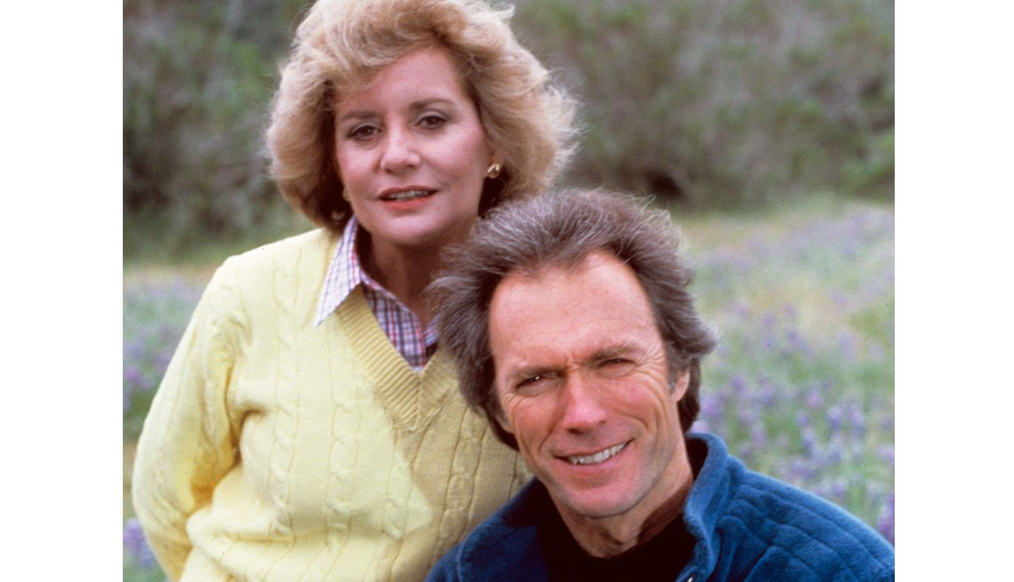 Actor Clint Eastwood Poses With Barbara Walters, Celebrity, Interview, Barbara Walters Slideshow