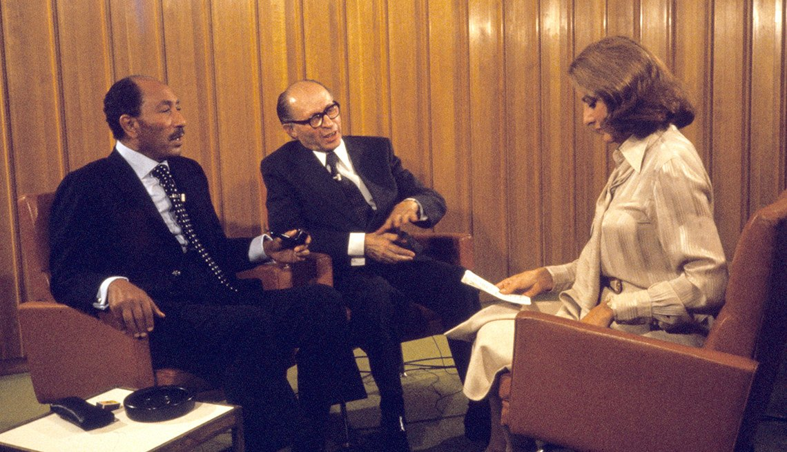 Barbara Walters Sits Down To Interview Then President Of Egypt Anwar Sadat And Israel's Prime Minister Menachem Begin, Barbara Walters Slideshow