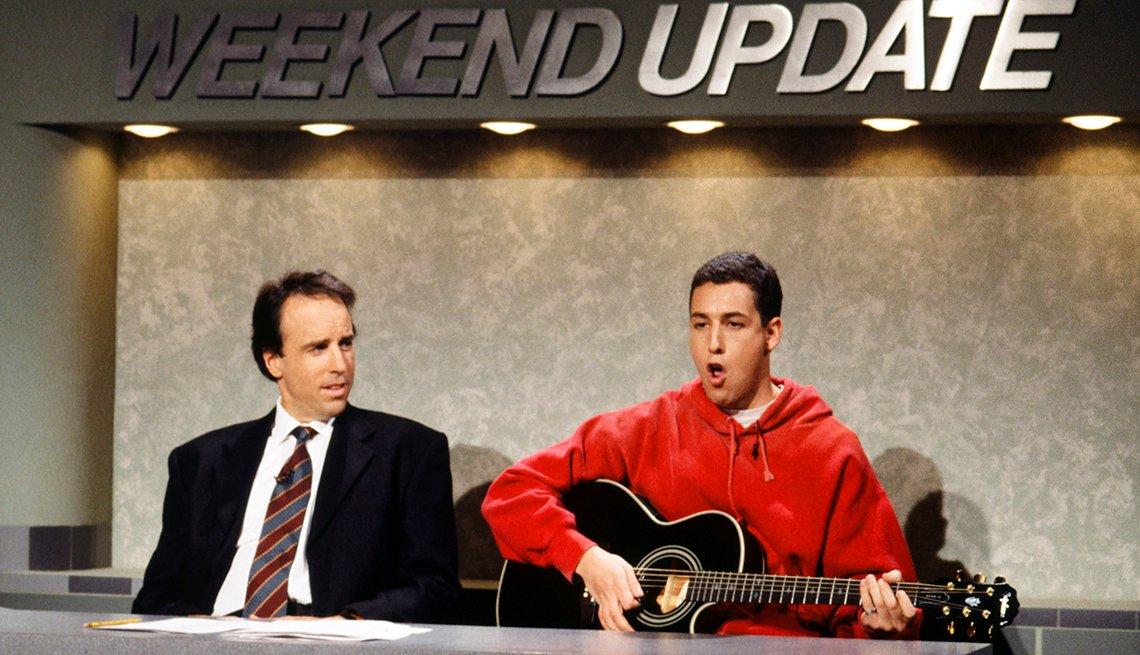 Adam Sandler, Kevin Nealon, Saturday Night Live, SNL 40, comedy television