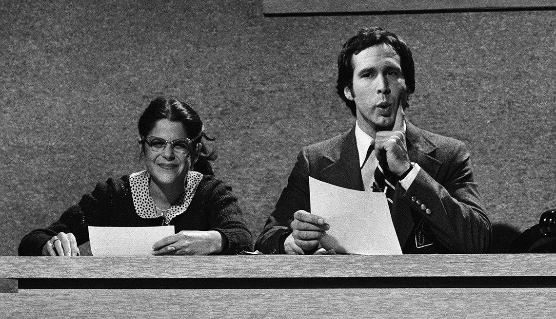 Gilda Radner, Chevy Chase, Weekend Update, Saturday Night Live, SNL 40