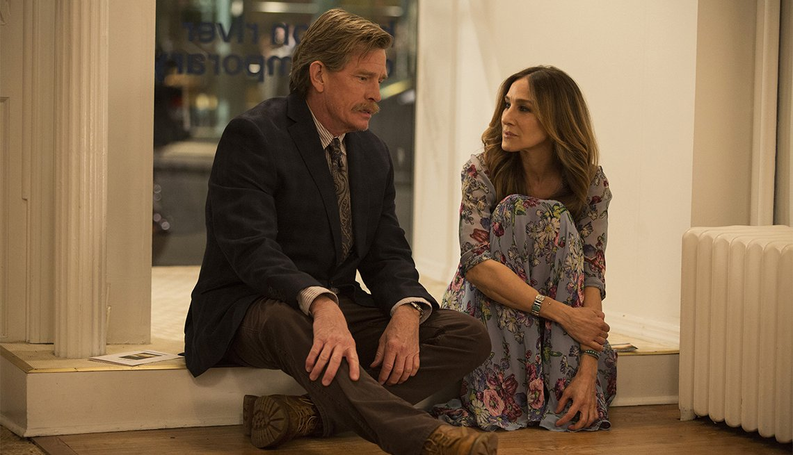 Sarah Jessica Parker and Thomas Haden Church in 'Divorce'