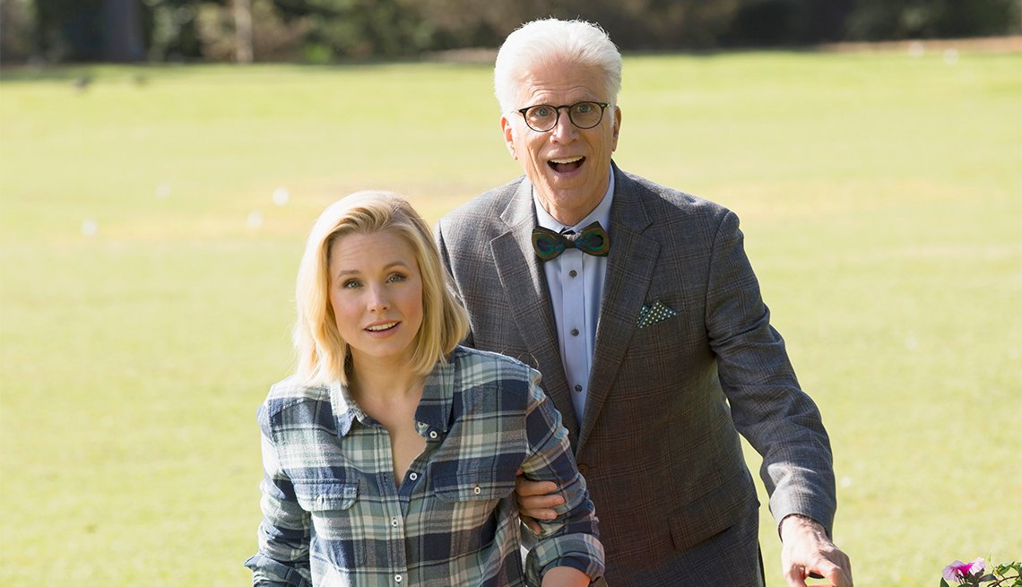 Kristen Bell and Ted Danson in 'The Good Place'