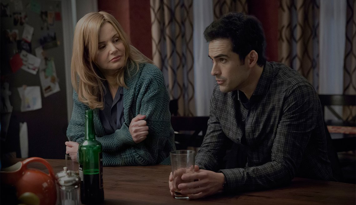 Geena Davis and Alfonso Herrera in 'The Exorcist'