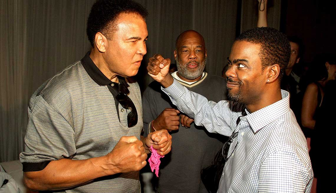 Muhammad Ali and Chris Rock