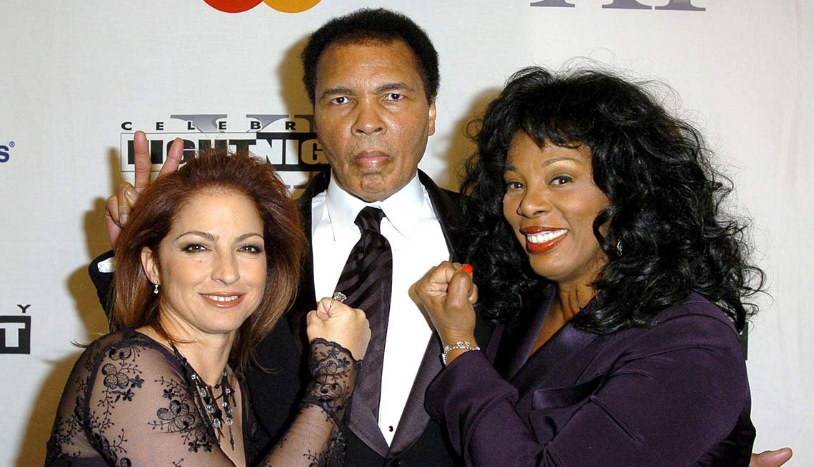 Gloria Estefan, Muhammad Ali and Donna Summer