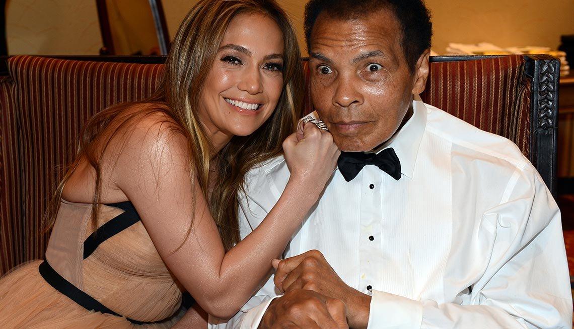 Jennifer Lopez and Muhammad Ali