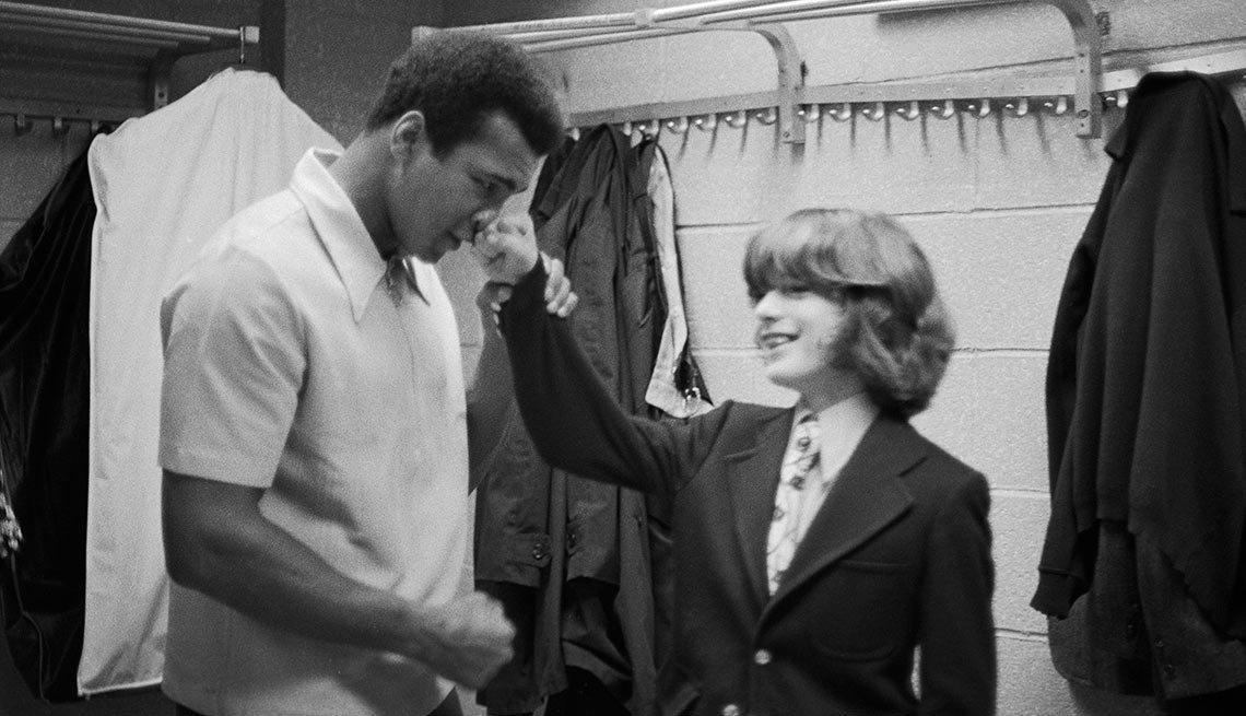 John Kennedy Jr and Muhammed Ali