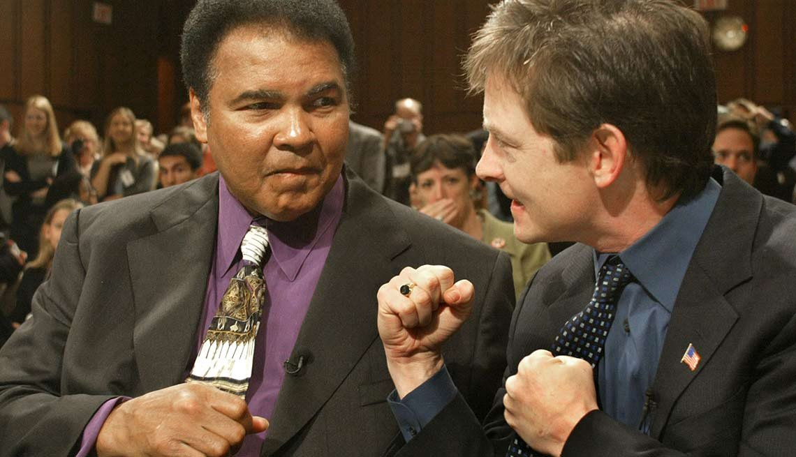Michael J Fox and Muhammad Ali