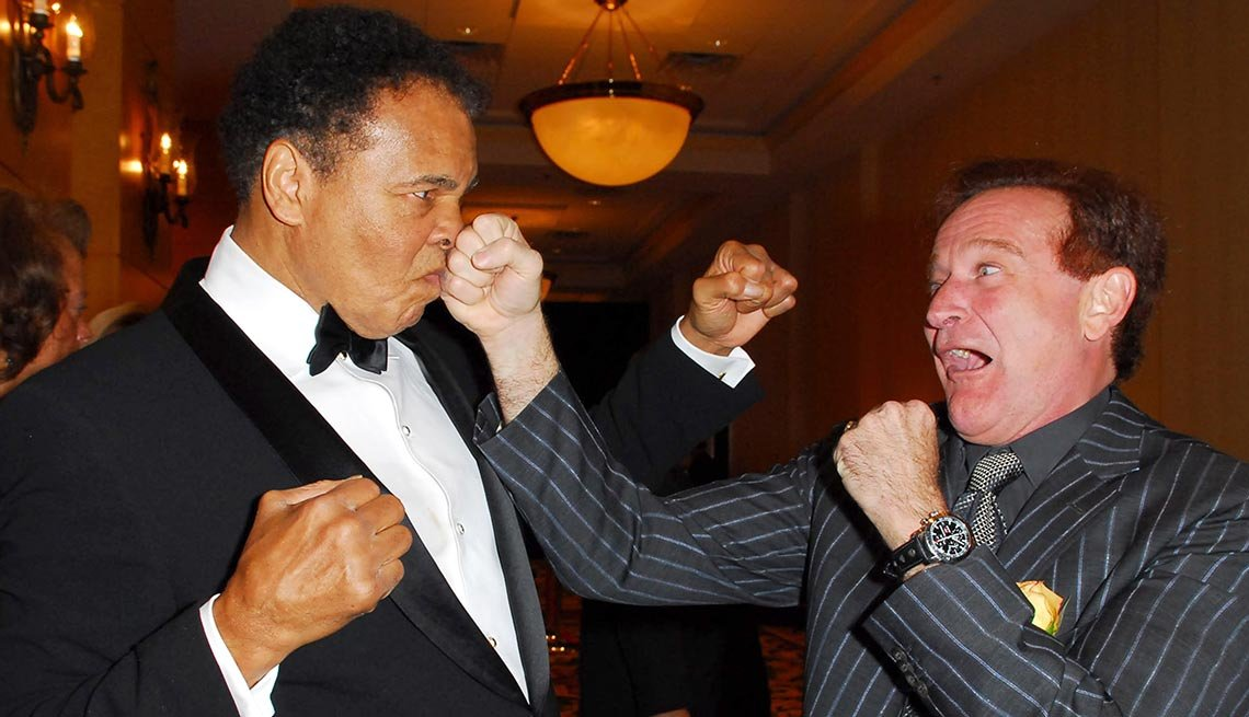 Muhammad Ali and Robin Williams