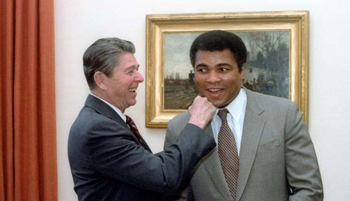 Ronald Reagan and Muhammad Alie