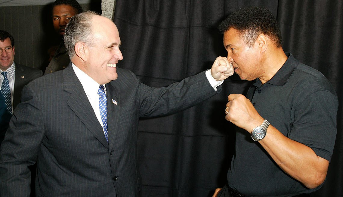 Rudolph Giuliani and Muhammad Ali