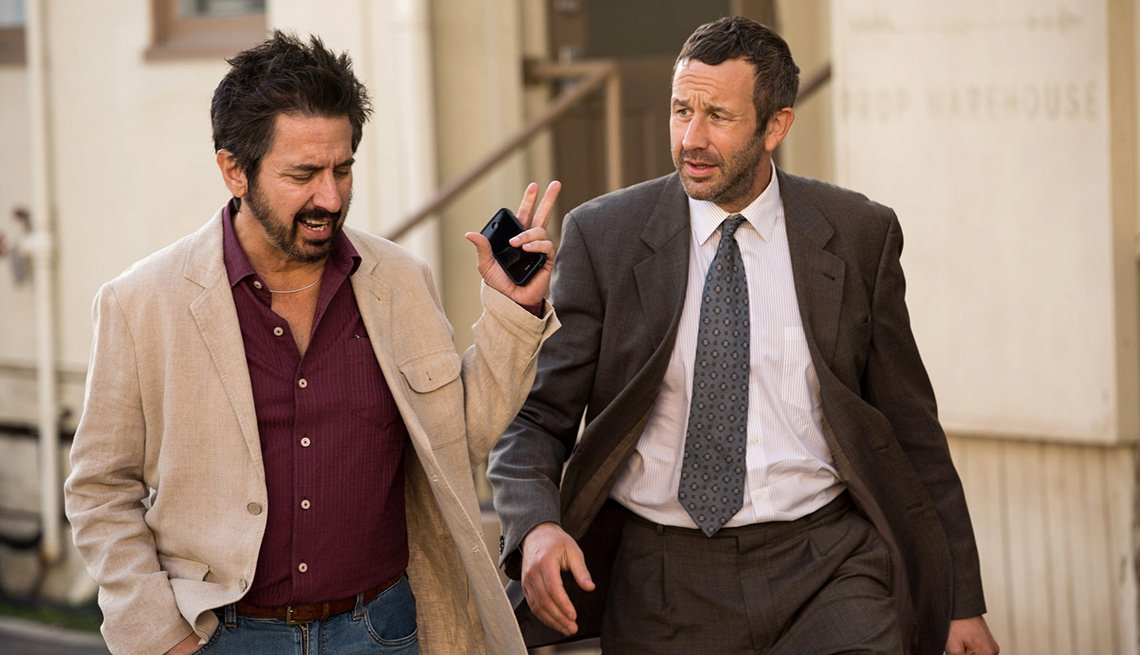 Ray Romano, left, and Chris O'Dowd in Epix's new series, 'Get Shorty'
