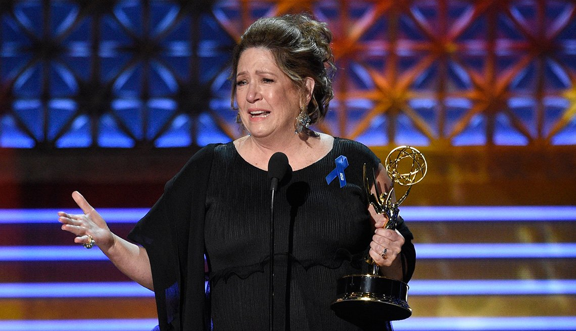 Ann Dowd accepts the award for Outstanding Supporting Actress in a Drama Series